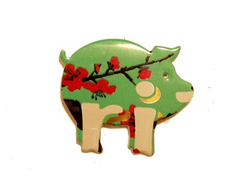 Arizona Green Tea - PIG MAGNET - Recycled Soda Pop Can