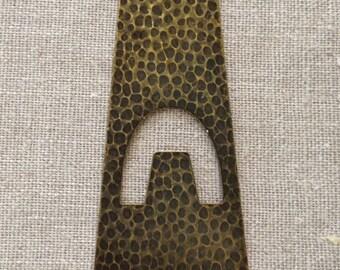 2 Hammered Antique Brass Ox Pendant