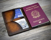 Leather Passport Holder. Italian Leather Passport Wallet. Real Leather Travel Wallet. Genuine Leather Passport Case.