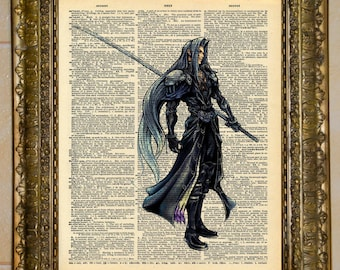 Sephiroth Final Fantasy Dictionary Art