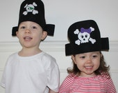 Personalized Pirate Hat - Pretend Play Pirate Hat - Dress Up - Toddler and Child Pretend - Girl Pirate - Boy Pirate