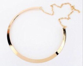 Gold-Plated Bib Necklace