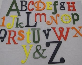PAINTED Wooden Alphabet Set   Wooden Wall Letters   Alphabet Wall Art   Nursery Decor   Part 37