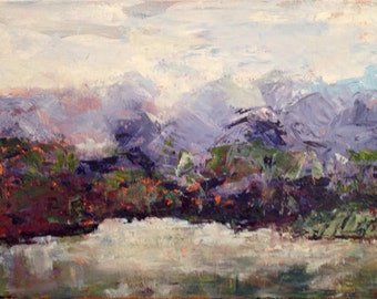 """12""""x16"""" abstract landscape that has it all"""