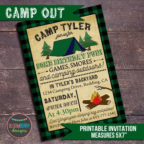 Camping Invitations Birthday for good invitation example
