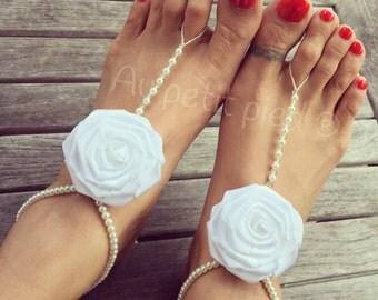 barefoot sandals,beach wedding,girl barefoot sandals,bridesmaids barefoot sandals,foot jewelry,flower girl barefoot sandals