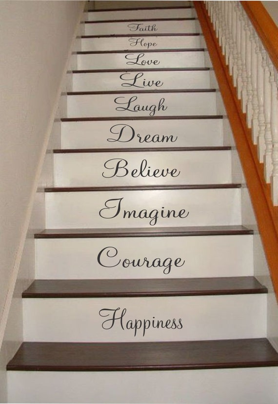 Inspiration Quotes Stair Riser Decals Stair Decals Stair