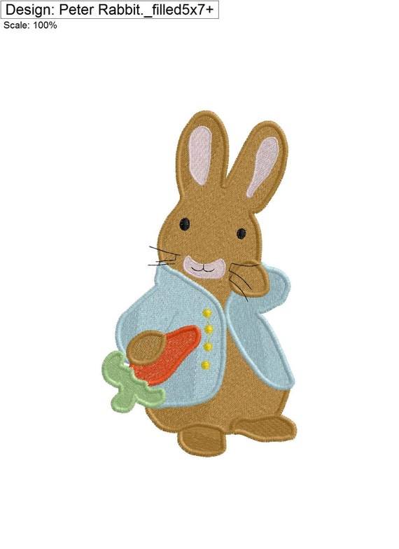 Peter Rabbit Embroidery Design From Sarahsewsew On Etsy Studio