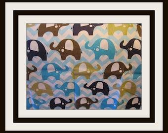 Elephant theme apron , Aprons elephant theme, childcare aprons , teacher aprons, sells aprons, personalized aprons, half aprons, half apron,