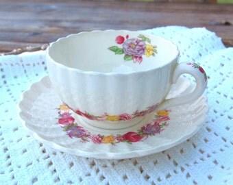 Copeland Spode Rose Briar Teacup and Saucer - England
