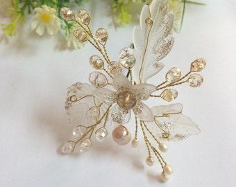 Pearl Bridal Headpiece, Wedding Hair Accessories, Bridal Hair Pin, Wedding Hair Pin, Wedding Hair Jewelry, Bridal Pins, Wedding Accessories