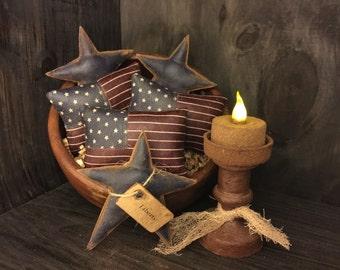 Primitive American Flag Bowl Fillers