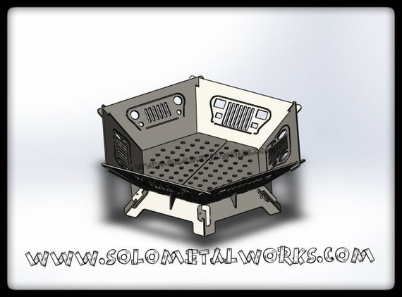 Items similar to 36 hexagon jeep grill modular fire pit for Prefabricated fire pits