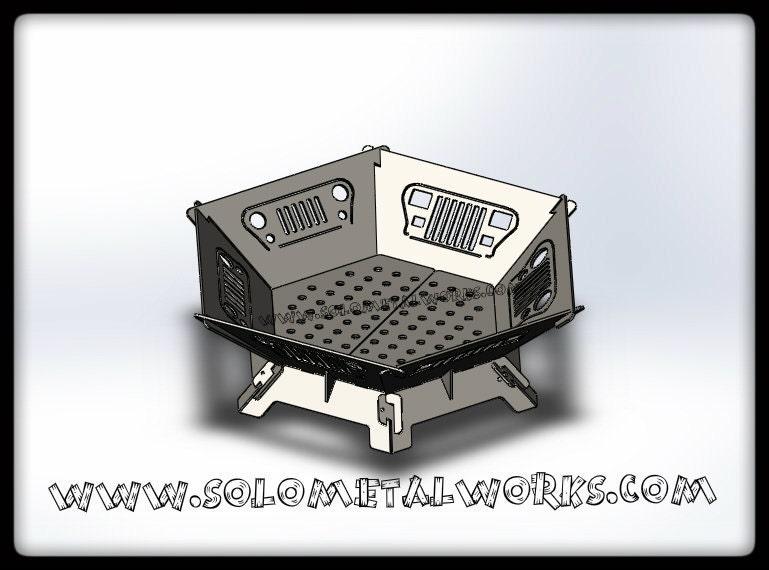 36 hexagon jeep grill modular fire pit kit free Prefab fire pits
