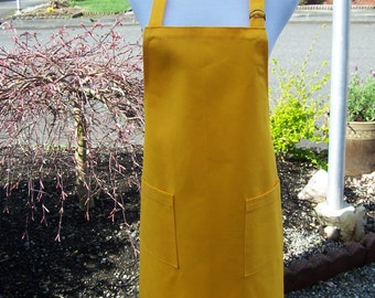 Bright Yellow Gold Heavy Duty Unisex Apron