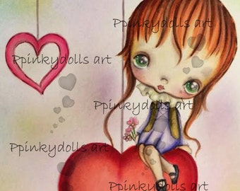 INSTANT DOWNLOAD Digital Digi Stamps..by Chrishanthi's art,I am in love''
