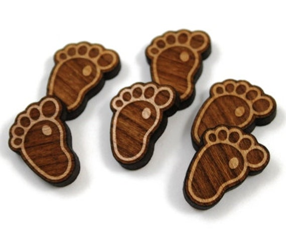 laser cut supplies 8 pieces baby feet charms laser cut wood baby shapes jewelry supplies little. Black Bedroom Furniture Sets. Home Design Ideas