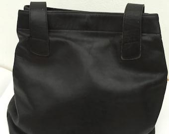 Genuine Vintage COACH Black Leather Handbag