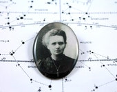 Marie Curie (Glow in the Dark) Brooch