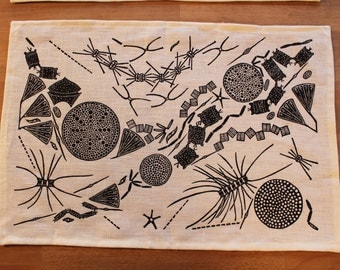"Set of 6 ""Diatoms"" placemats by Isabel Natti"