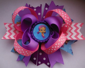 Bubble Guppies Inspired Boutique Hair Bow - Oona Bow - Bubble Guppies Birthday Party