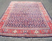 Persian Rug - 1970s Hand-Knotted Vintage Persian Sarouk Rug (3119)