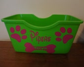 My Dogs Toys Decal 4 Your Basket Storage Box Tote Bin Puppy Personalized Label Dog Squeak Toy Tennis Balls Frisbee Chew Toy Rope Rawhide