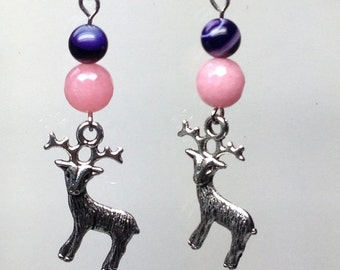 Deer with agate and my collection Ohhh my DEER morganite earrings