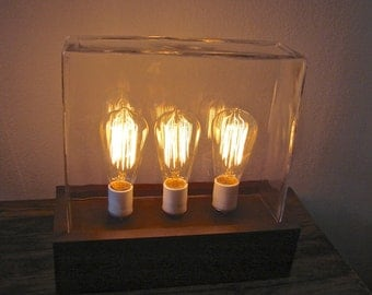 Vintage Industrial Style Edison Bulb Table Lamp