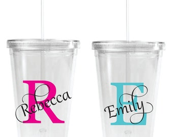 Personalized Wedding cup acrylic tumbler 16 oz wedding party favor