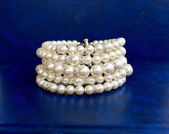 bridals wedding jewelry statement bracelet bridesmaid gift gift for her multistrand  bracelet bridesmaid jewelry statement jewelry