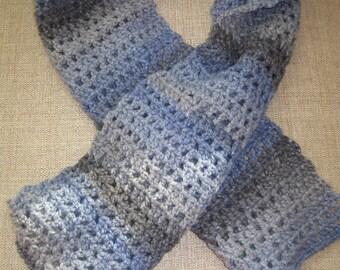 Large blue/grey scarf