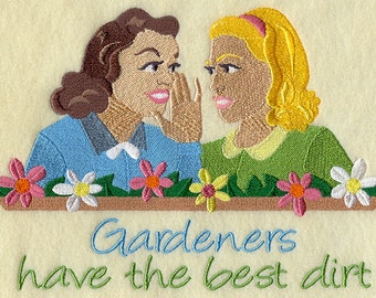 Gardeners Have the Best Dirt Embroidered on Made-to-Order Pillow Cover