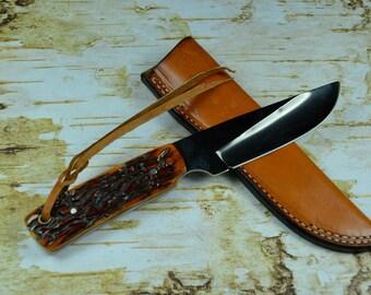 Custom Handcrafted Skinner's Knife Stainless Steel Mirror Finish Heavy Duty NEW