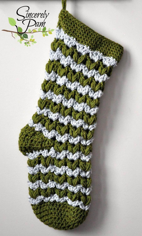 Victoria Christmas Stocking Crochet Pattern pdf