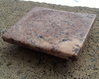 Typhoon Bordeaux Granite - Granite Coaster - Granite Soap Dish - Granite Candle Dish - Granite - Natural Stone - Home Decor - Office