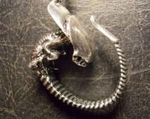 Baby Alien Xenomorph Fetus Chest Burster Horror Necklace