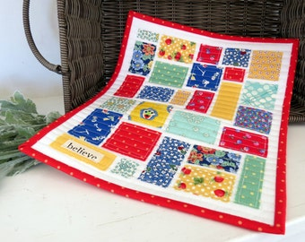 Vintage Inspired Tiny Ticker Tape Quilt