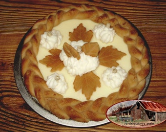 10 Inch Braided Crust Whole Vanilla Silk Cream Pie Candle