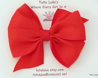 Red and White Pin Wheel Headband