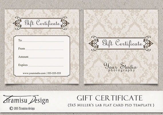 gift certificate photoshop template photography gift. Black Bedroom Furniture Sets. Home Design Ideas