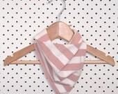 BANDANA BIB / STRIPE coral / Unisex / screen printed organic cotton jersey