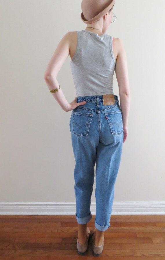 90 39 s levis high waist jeans tapered fit by almondtreevintage. Black Bedroom Furniture Sets. Home Design Ideas