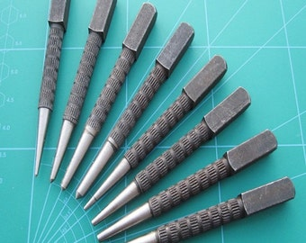 Pin Punch and Centre Punch set of 8