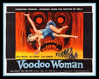 Fridge Magnet Voodoo Woman vintage horror movie poster image
