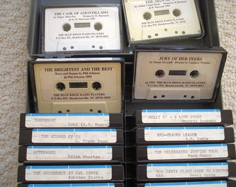SALE - Books on Tape by the Blue Ridge Radio Players - Short Stories Recorded for the Visually Impaired