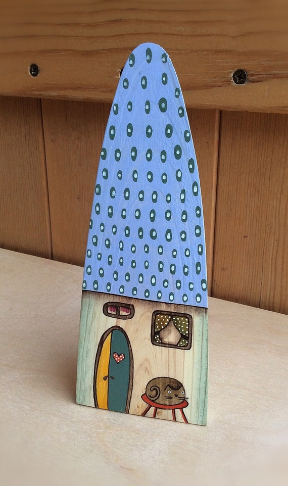 Hand Painted House Little Wooden House Decorative House
