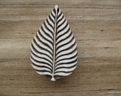 Leaf Stamp Indian Fabric Printing Pottery Stamp
