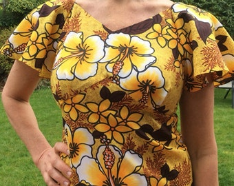 Vintage Hawaiian Dress , Size Small