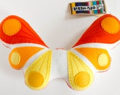 Plush Toy Butterfly - Yellow Orange Sunrise